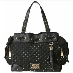 Juicy Couture Black Studded Daydreamer ShoulderBag